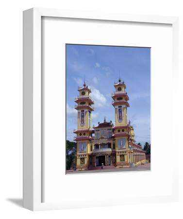 Cao Dai Temple, Synthesis of Three Religions, Confucianism, Vietnam, Indochina-Alison Wright-Framed Photographic Print