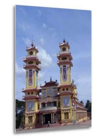Cao Dai Temple, Synthesis of Three Religions, Confucianism, Vietnam, Indochina-Alison Wright-Metal Print