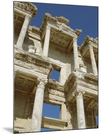 Reconstructed Facade of the Library of Celsus, Archaeological Site, Ephesus, Turkey, Anatolia-Robert Harding-Mounted Photographic Print