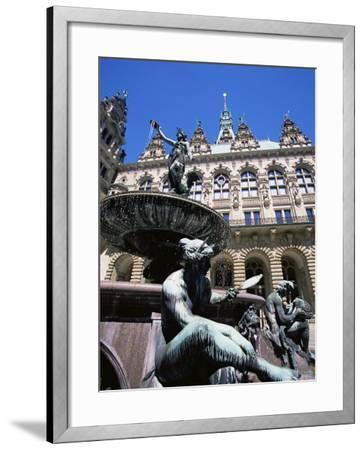 Fountain in the Courtyard of the Hamburg City Hall, Hamburg, Germany, Europe-Yadid Levy-Framed Photographic Print