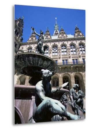 Fountain in the Courtyard of the Hamburg City Hall, Hamburg, Germany, Europe-Yadid Levy-Metal Print