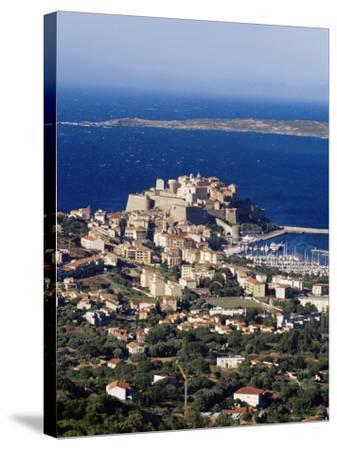 Citadel and Calvi, Corsica, France, Mediterranean, Europe-Yadid Levy-Stretched Canvas Print