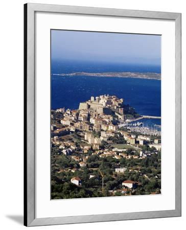 Citadel and Calvi, Corsica, France, Mediterranean, Europe-Yadid Levy-Framed Photographic Print