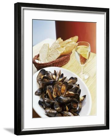A Plate of Mussels, Glasgow, Scotland, United Kingdom, Europe-Yadid Levy-Framed Photographic Print