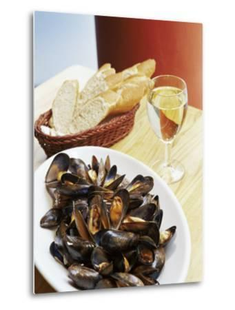 A Plate of Mussels, Glasgow, Scotland, United Kingdom, Europe-Yadid Levy-Metal Print