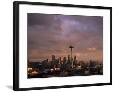 City Skyline, Seattle, Washington State, United States of America (U.S.A.), North America-Aaron McCoy-Framed Photographic Print