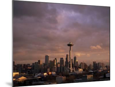 City Skyline, Seattle, Washington State, United States of America (U.S.A.), North America-Aaron McCoy-Mounted Photographic Print
