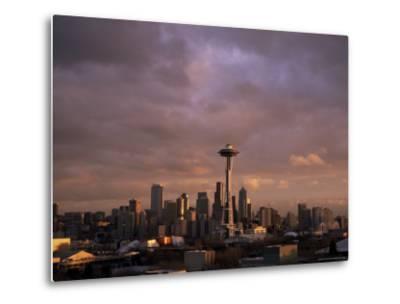 City Skyline, Seattle, Washington State, United States of America (U.S.A.), North America-Aaron McCoy-Metal Print