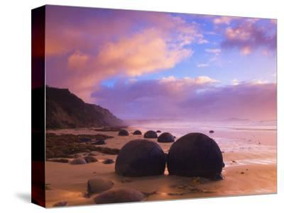 Moeraki Boulders, Moeraki, Otago, South Island, New Zealand, Pacific-Jochen Schlenker-Stretched Canvas Print
