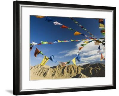 Prayer Flags on the Peak of Victory, Leh, Ladakh, Indian Himalayas, India, Asia-Jochen Schlenker-Framed Photographic Print