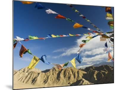 Prayer Flags on the Peak of Victory, Leh, Ladakh, Indian Himalayas, India, Asia-Jochen Schlenker-Mounted Photographic Print