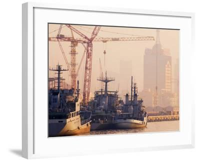 Boats on the Huangpu River, Shanghai, China, Asia-Jochen Schlenker-Framed Photographic Print