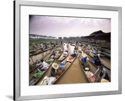 Floating Market, Inle Lake, Shan State, Myanmar (Burma), Asia-Colin Brynn-Framed Photographic Print