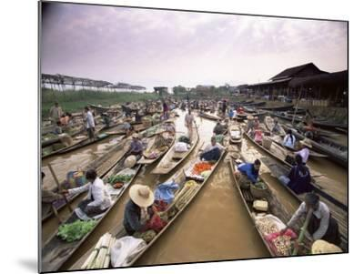 Floating Market, Inle Lake, Shan State, Myanmar (Burma), Asia-Colin Brynn-Mounted Photographic Print