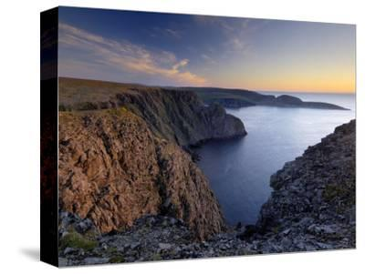 Sunset Over Nordkapp, North Cape, Mageroya Mahkaravju Island, Norway-Gary Cook-Stretched Canvas Print