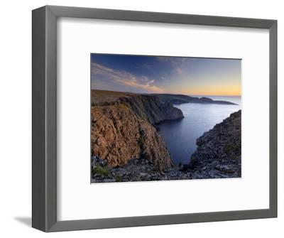 Sunset Over Nordkapp, North Cape, Mageroya Mahkaravju Island, Norway-Gary Cook-Framed Photographic Print
