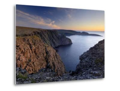 Sunset Over Nordkapp, North Cape, Mageroya Mahkaravju Island, Norway-Gary Cook-Metal Print