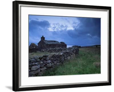 Ruined Croft at Sound, Yell, Shetland Islands, Scotland, United Kingdom, Europe-Patrick Dieudonne-Framed Photographic Print