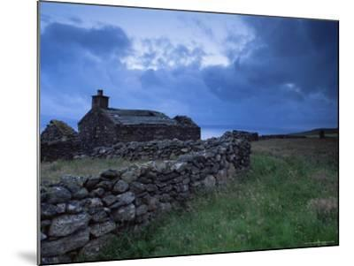 Ruined Croft at Sound, Yell, Shetland Islands, Scotland, United Kingdom, Europe-Patrick Dieudonne-Mounted Photographic Print