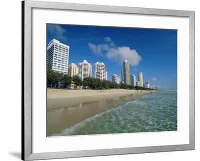 Surfers Paradise Beach, Gold Coast, Queensland, Australia-Robert Francis-Framed Photographic Print