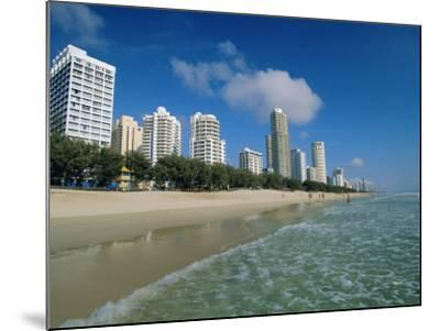 Surfers Paradise Beach, Gold Coast, Queensland, Australia-Robert Francis-Mounted Photographic Print