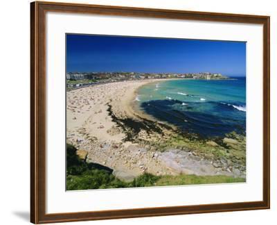 Bondi Beach, One of the City's Southern Ocean Suburbs, Sydney, New South Wales, Australia-Robert Francis-Framed Photographic Print