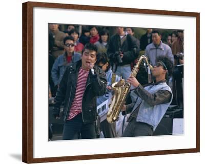 Singer and Musician, Horajuku, Tokyo, Japan, Asia-Rob Mcleod-Framed Photographic Print