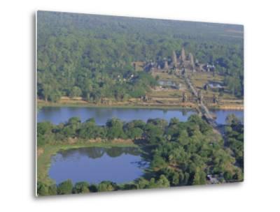 Angkor Wat, Siem Reap, Cambodia, Indochina, Asia-Bruno Morandi-Metal Print