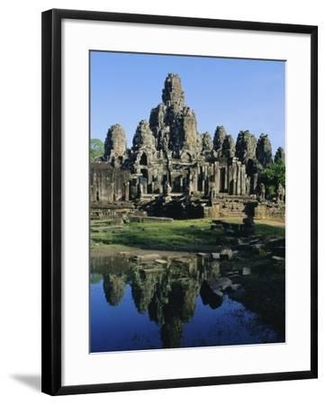 The Bayon Temple, Angkor, Siem Reap, Cambodia, Indochina, Asia-Bruno Morandi-Framed Photographic Print