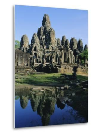 The Bayon Temple, Angkor, Siem Reap, Cambodia, Indochina, Asia-Bruno Morandi-Metal Print
