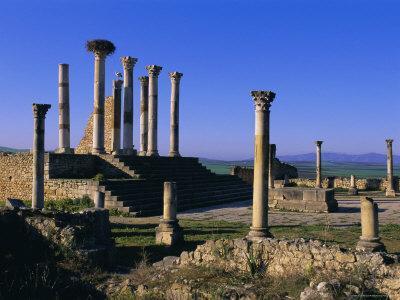 Roman Archaeological Site, Volubilis, Meknes Region, Morocco, North Africa, Africa-Bruno Morandi-Framed Photographic Print