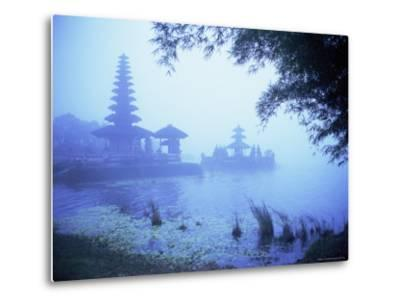 Hindu Temple of Bataun in the Mist, Island of Bali, Indonesia, Southeast Asia, Asia-Bruno Morandi-Metal Print