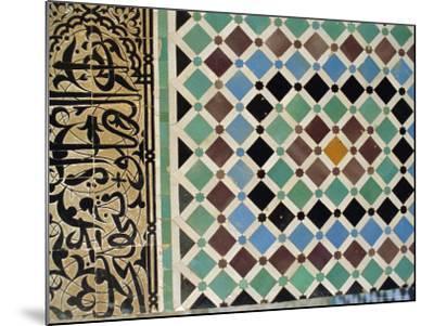 Tile Detail, Attarine Medressa, Fez, Morocco, North Africa-Bruno Morandi-Mounted Photographic Print