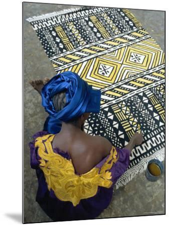 Cotton Rug Making, Craft Workshop of Bogolan, Segou, Mali-Bruno Morandi-Mounted Photographic Print