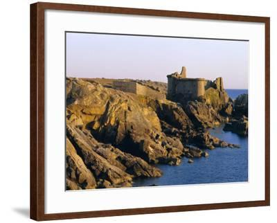 The Old Castle, 19th Century, on the South Coast of Ile d'Yeu, Yeu Island, Vendee, France-J P De Manne-Framed Photographic Print