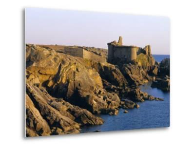 The Old Castle, 19th Century, on the South Coast of Ile d'Yeu, Yeu Island, Vendee, France-J P De Manne-Metal Print