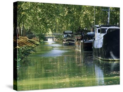 Brienne Canal, Toulouse, Haute-Garonne, Midi-Pyrenees, France, Europe--Stretched Canvas Print