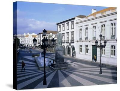 Town of Ponta Delgada, Sao Miguel Island, Azores, Portugal, Europe, Atlantic Ocean-J P De Manne-Stretched Canvas Print
