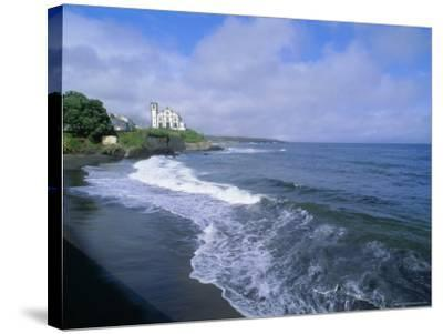 Beach of Town of Lagoa, Sao Miguel Island, Azores, Portugal, Europe, Atlantic Ocean-J P De Manne-Stretched Canvas Print