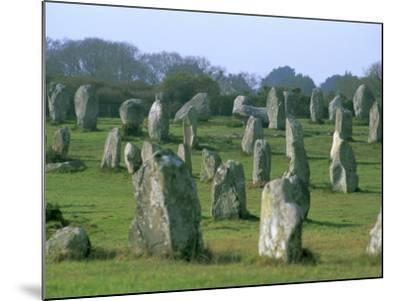 Alignments of Megalithic Standing Stones, Carnac, Morbihan, Brittany, France, Europe-J P De Manne-Mounted Photographic Print