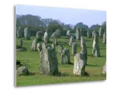 Alignments of Megalithic Standing Stones, Carnac, Morbihan, Brittany, France, Europe-J P De Manne-Metal Print