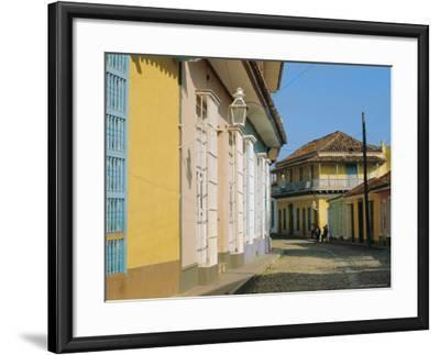 Street in the Colonial Town, Trinidad, Sancti Spiritus, Cuba-J P De Manne-Framed Photographic Print