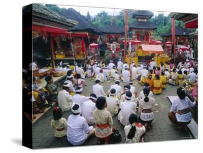 Batara Turum Kabeh Ceremony, Hindu Temple of Besakih, Bali, Indonsesia-J P De Manne-Stretched Canvas Print
