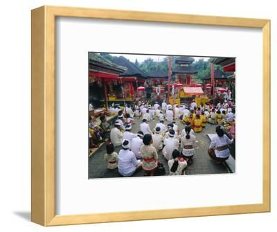 Batara Turum Kabeh Ceremony, Hindu Temple of Besakih, Bali, Indonsesia-J P De Manne-Framed Photographic Print