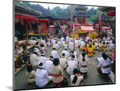 Batara Turum Kabeh Ceremony, Hindu Temple of Besakih, Bali, Indonsesia-J P De Manne-Mounted Photographic Print