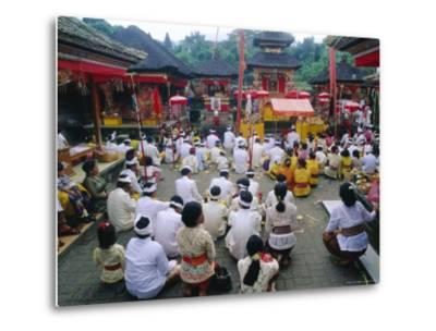 Batara Turum Kabeh Ceremony, Hindu Temple of Besakih, Bali, Indonsesia-J P De Manne-Metal Print