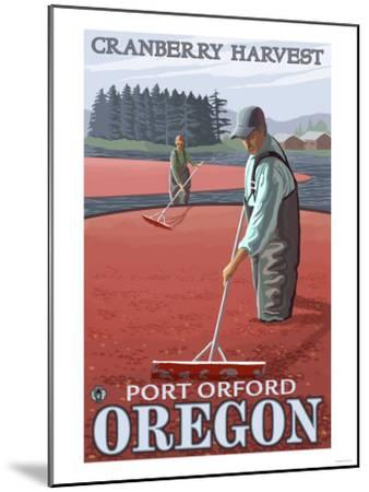 Cranberry Bogs Harvest, Port Orford, Oregon-Lantern Press-Mounted Art Print