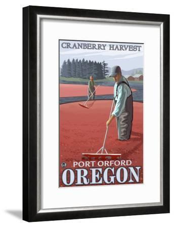 Cranberry Bogs Harvest, Port Orford, Oregon-Lantern Press-Framed Art Print