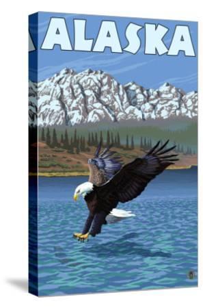 Bald Eagle, Alaska-Lantern Press-Stretched Canvas Print