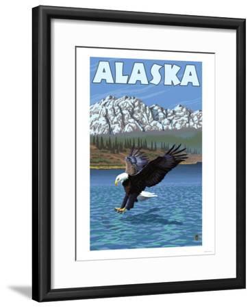 Bald Eagle, Alaska-Lantern Press-Framed Art Print